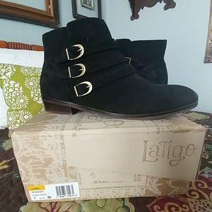 Latigo black booties